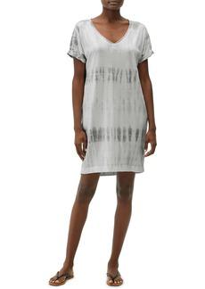 Michael Stars Cara Tie Dye V-Neck Short Sleeve Cotton & Modal T-Shirt Minidress