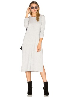 Michael Stars Cashmere Blend Slit Sweater Midi Dress