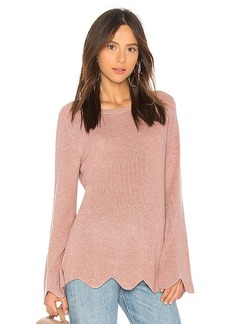 Michael Stars Cashmere Scalloped Sweater