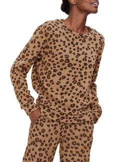 Michael Stars Celeste Leopard Spot Sweatshirt