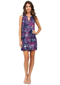 Michael Stars City Lights Print Tank Dress w/ Keyhole