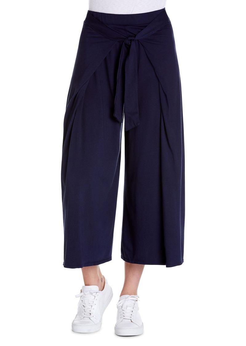 Michael Stars Clarissa Tie Front Wide Leg Crop Culottes