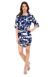 Michael Stars Cloud Print Roll Up Elbow Sleeve Dress