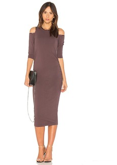 Michael Stars Cold Shoulder Dress in Purple. - size L (also in M,S,XS)