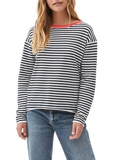 Michael Stars Contrast Ringer Sweater