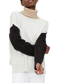 Michael Stars Daria Colorblock Turtleneck Sweater