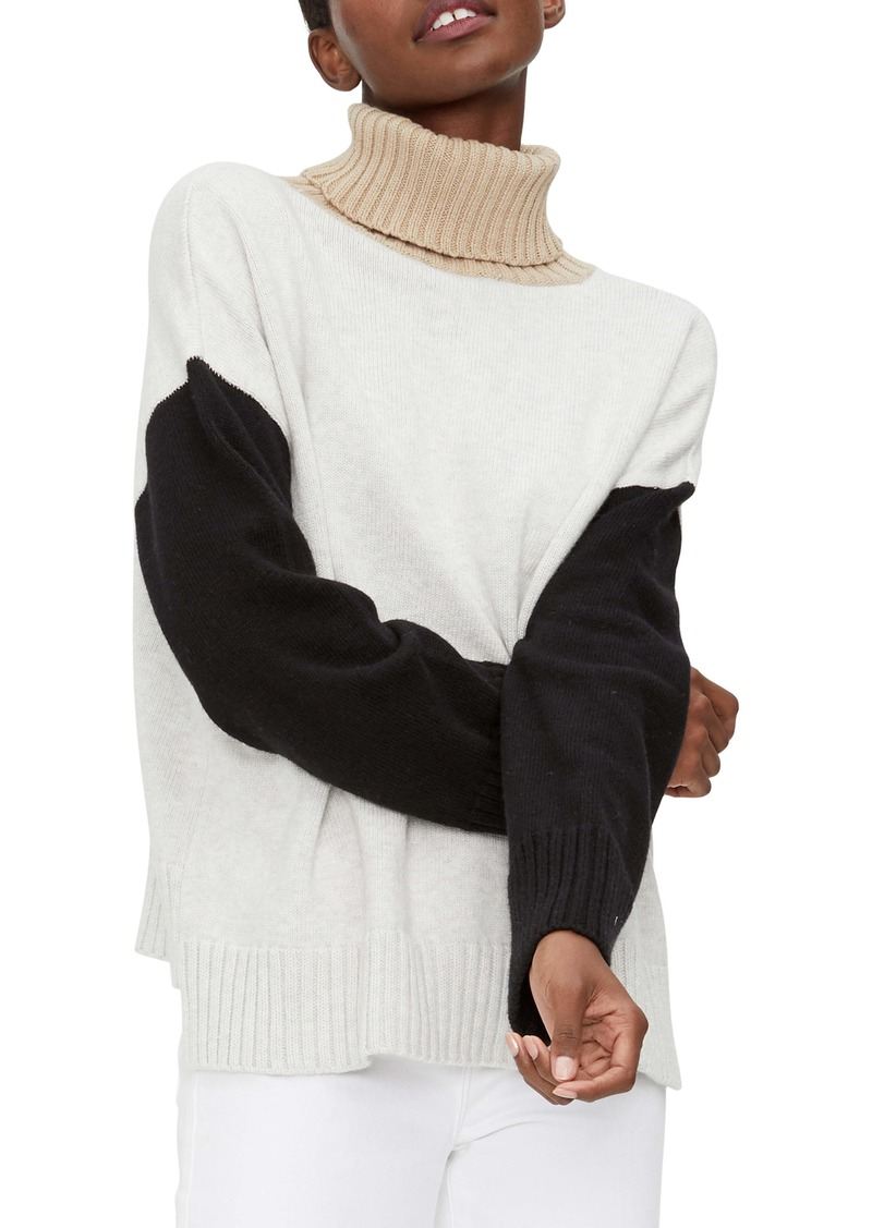 Michael Stars Daria Colorblock Turtleneck Sweater