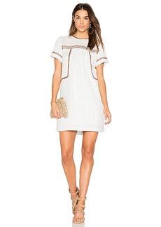 Michael Stars Dobby Stripe Dress in White. - size M (also in S,XS)
