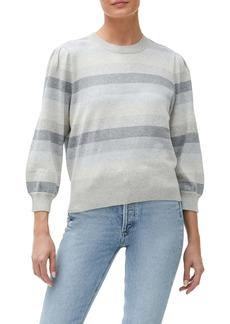 Michael Stars Dolly Stripe Puff Sleeve Sweater