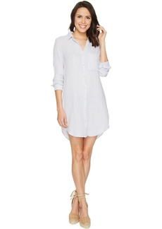 Michael Stars Double Gauze Long Sleeve Shirtdress