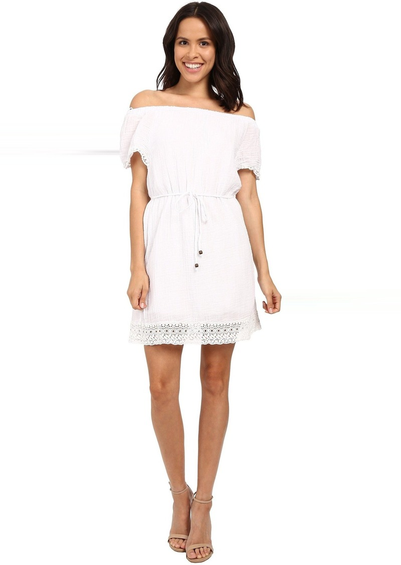 Michael Stars Double Gauze Off Shoulder Dress w/ Crochet