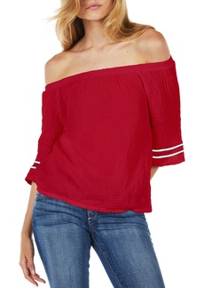 Michael Stars Double Gauze Off the Shoulder Top