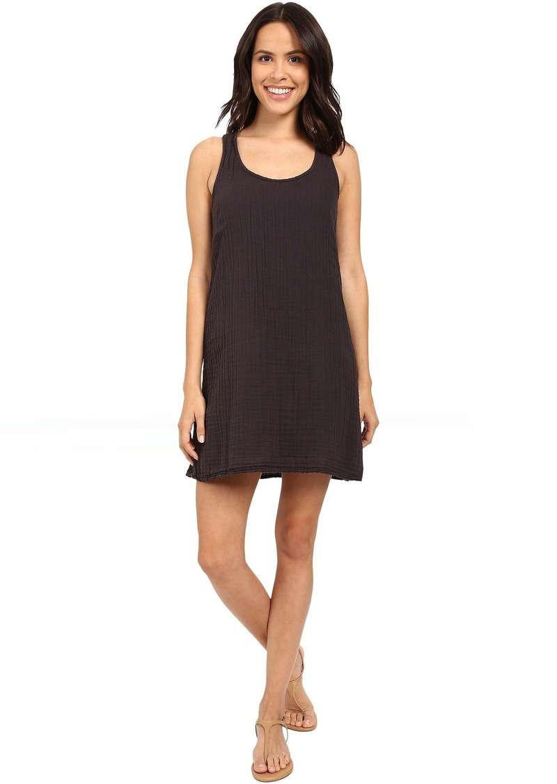 Michael Stars Double Gauze Racerback Dress w/ Crochet