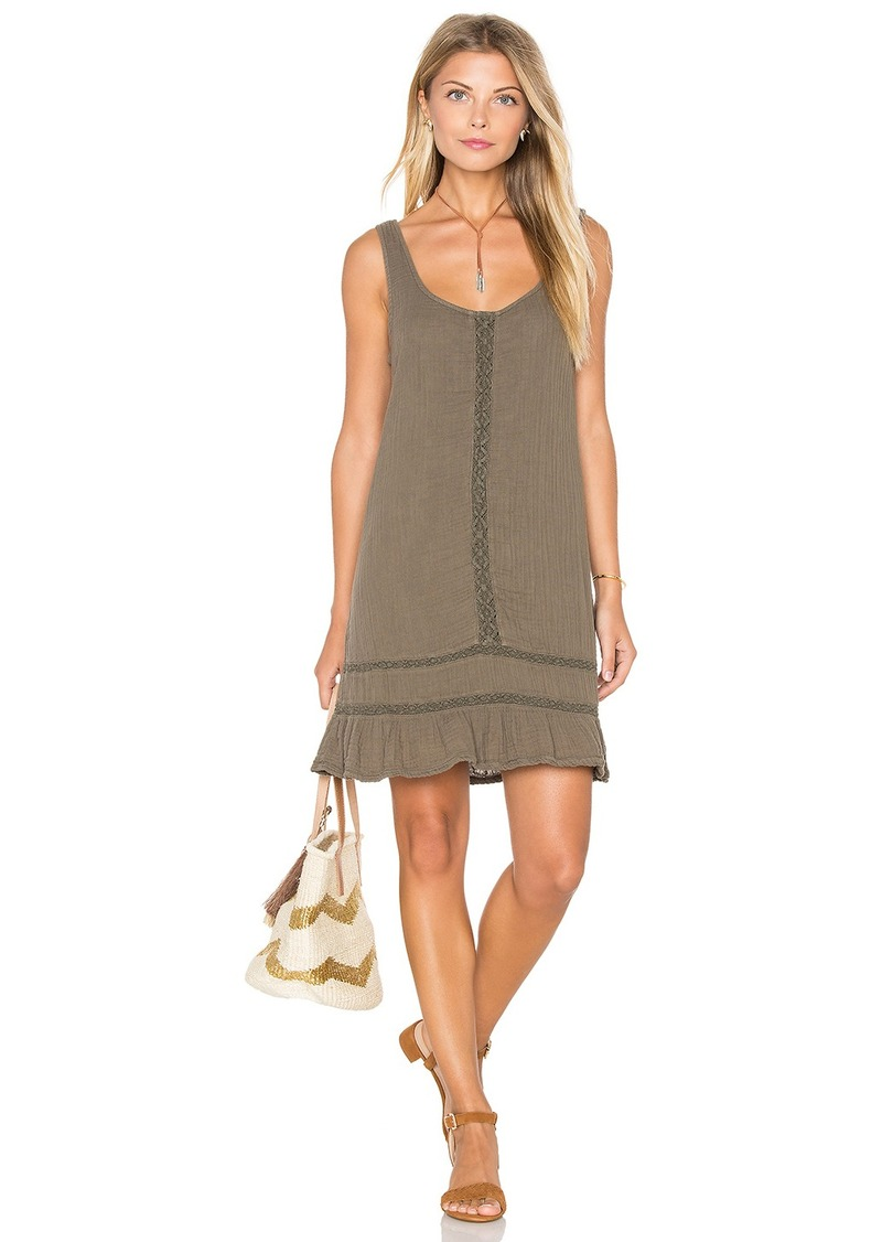 Michael Stars Double Gauze Scoop Neck Crochet Dress