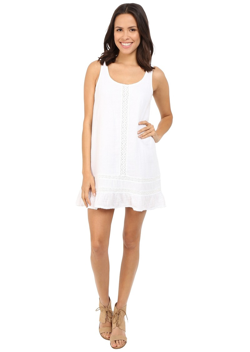 Michael Stars Double Gauze Tank Dress w/ Crochet