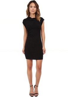 Michael Stars Drape Neck Dress w/ Asymmetrical Drape