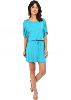 Michael Stars Drawstring Dress w/ Ruched Sleeves