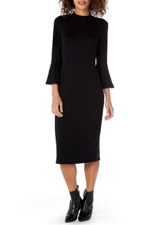 Michael Stars Elevated French Terry Bell Sleeve Sheath Dress