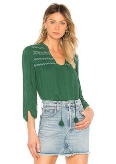Michael Stars Embroidered Peasant Top