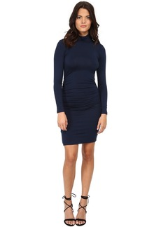 Michael Stars Exclusive L/S Turleneck Dress w/ Shirring