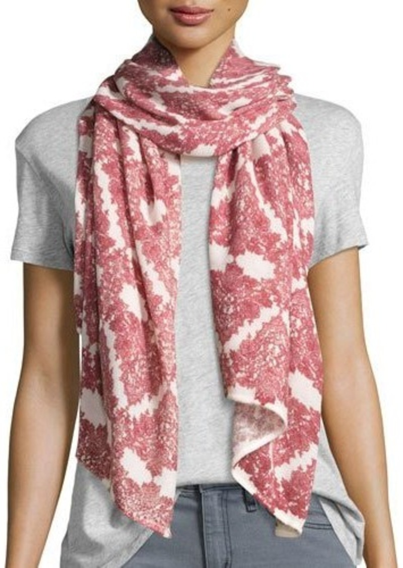 Michael Stars Faded Lace-Print Scarf