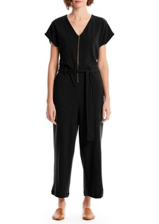 Michael Stars Fiona Zip-Up Cotton Blend Jumpsuit