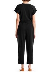Michael Stars Fiona Zip-Up Cotton Blend Jumpsuit