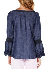 76a1448b82 Michael Stars Frilled Sleeve Peasant Top Michael Stars Frilled Sleeve  Peasant Top