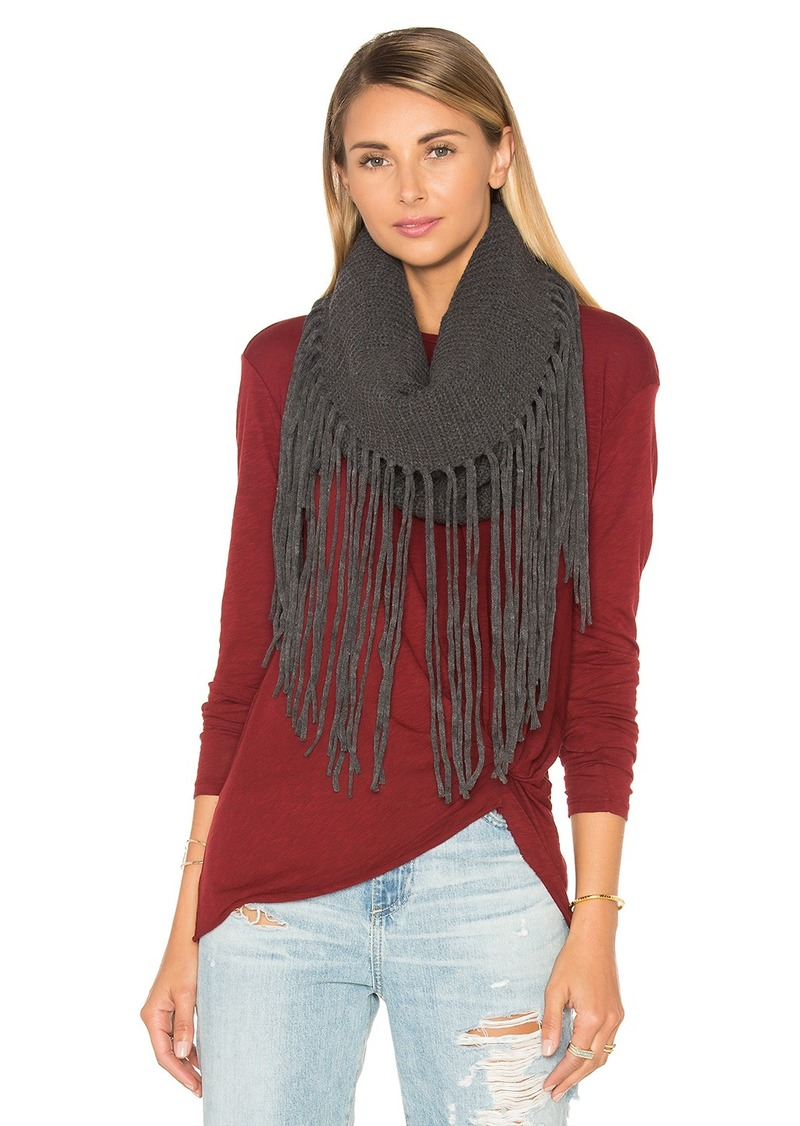 Michael Stars Fringed Out Cowl Scarf