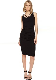 Michael Stars Front To Back Midi Dress w/ Shirring