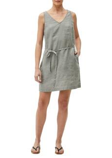 Michael Stars Glenda V-Neck Linen Shift Dress