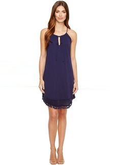 Michael Stars Halter Dress w/ Fringe Trim