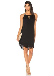 Michael Stars Halter Tassel Dress in Black. - size S (also in M,XS)