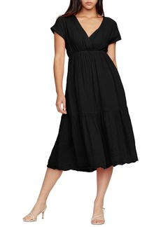 Michael Stars Illana Surplice Cotton Midi Dress