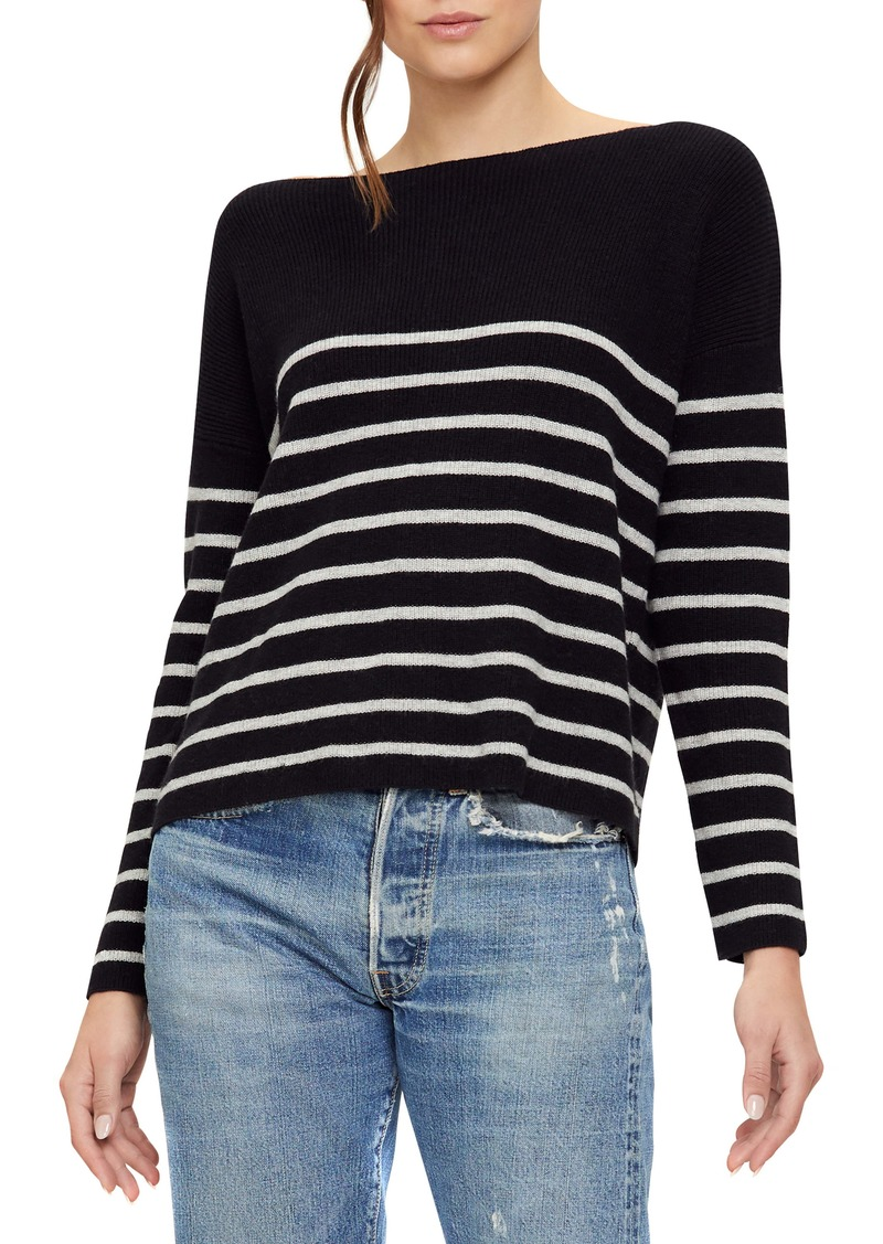 Michael Stars Joss Bristol Stripe Boat Neck Sweater