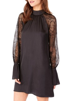 Michael Stars Lace Bell Sleeve Shift Dress
