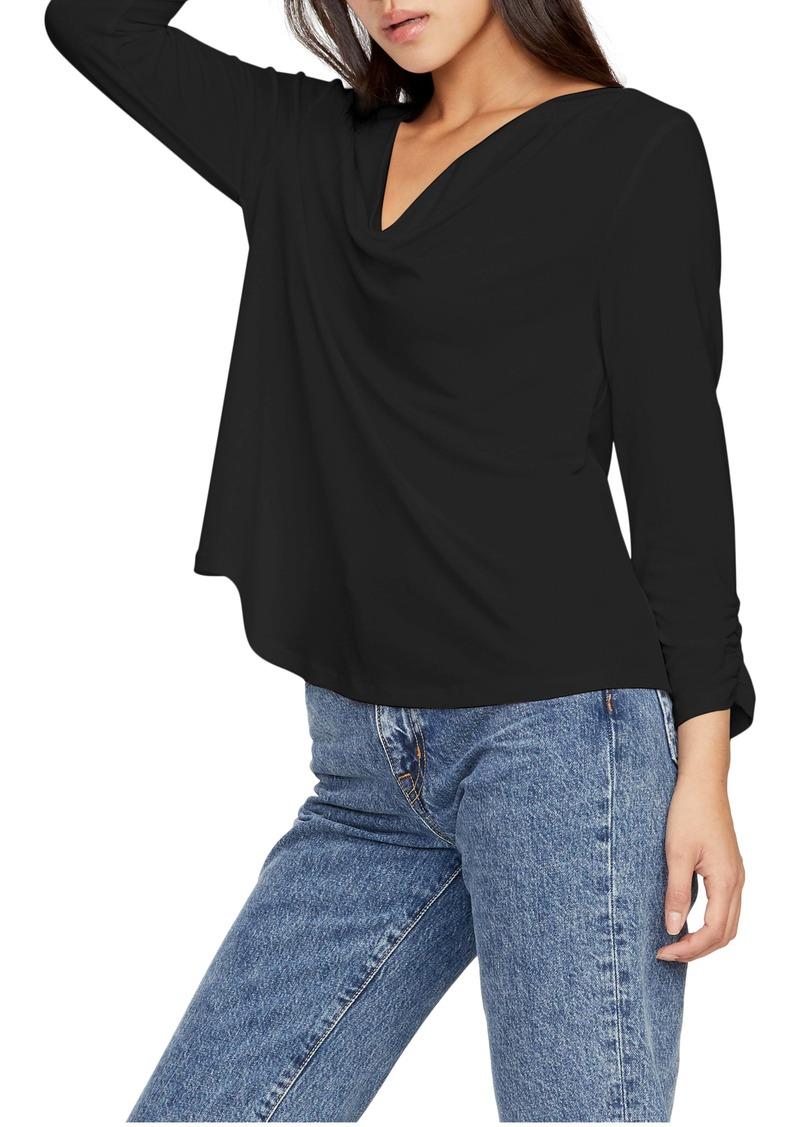 Michael Stars Laurel Shirred Sleeve Top