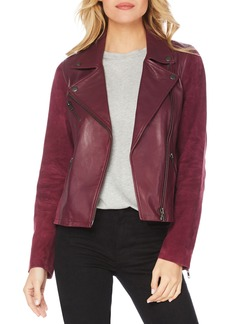 Michael Stars Leather & Suede Moto Jacket