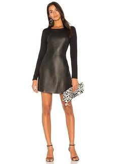 Michael Stars Leather Mini Dress in Black. - size M (also in XS,S,L)