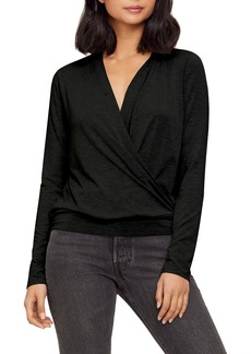 Michael Stars Leighton Jules Jersey Faux Wrap Top