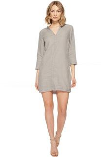 Michael Stars Linen 3/4 Sleeve Dress w/ Frayed Edges