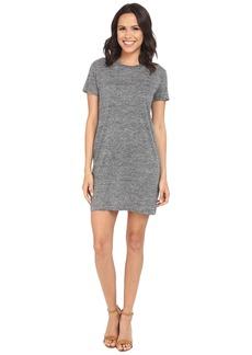 Michael Stars Linen Knit Short Sleeve Tee Dress w/ Slip