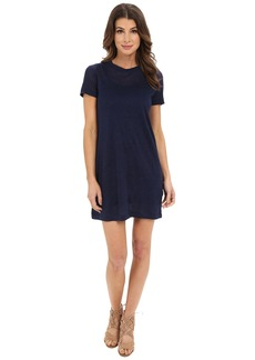 Michael Stars Linen Knit Short Sleeve Tee Dress w/ Slip