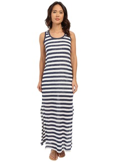 Michael Stars Linen Knit Stripe Maxi Dress