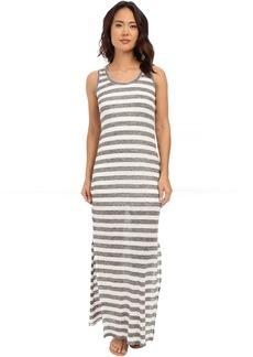 Michael Stars Linen Knit Stripe Maxi Dress