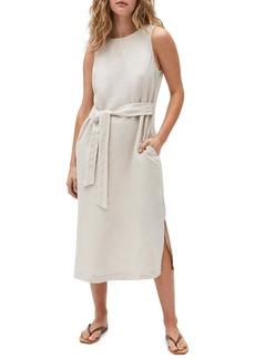 Michael Stars Maggie Tie Front Linen Dress