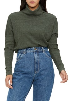 Michael Stars Marcy Turtleneck Shirttail Top