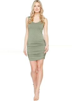 Michael Stars Mavie Slub Jersey Tank Dress w/ Shirring