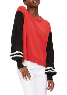 Michael Stars Melody Stripe Sleeve Pullover