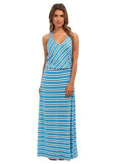Michael Stars Mercer Stripe Maxi Dress w/ Twist Back